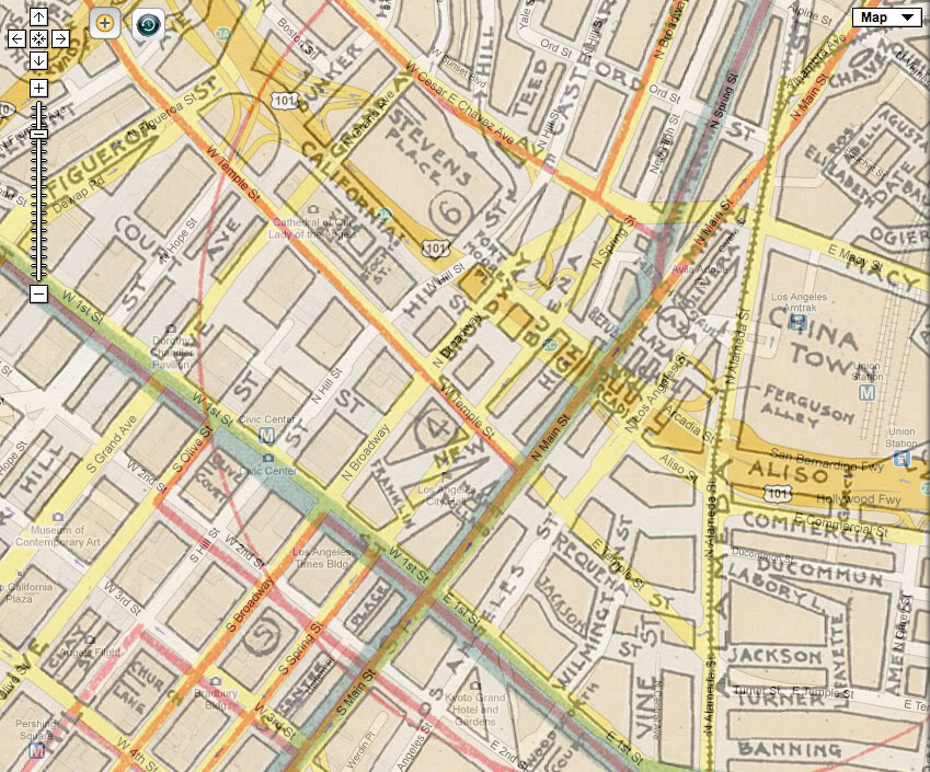 Los Angeles Past Historical Map Overlays At Uclaedu